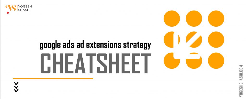 Google Ads Ad extensions strategy Cheat sheet